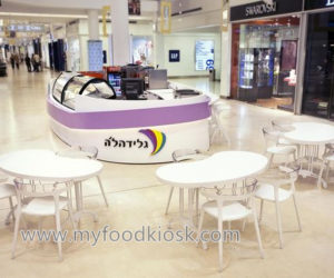 Newest style mall food 3D ice cream kiosk design for sale