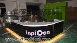 Tapi orca style customized mall food juice kiosk design in mall