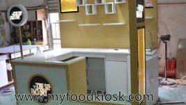 Hot selling customized juice kiosk design for shopping mall
