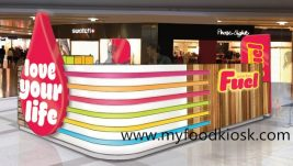 customized Fuel juice bar kiosk design for sale