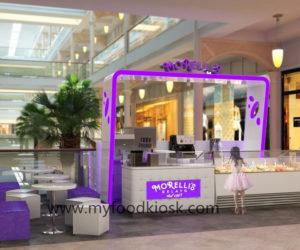 Hot selling high end ice cream kiosk design for sale