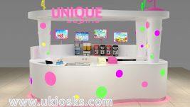 Hot selling mini bubble tea kiosk design for shopping mall