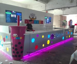 hot selling USA Simon mall food bubble tea kiosk for sale