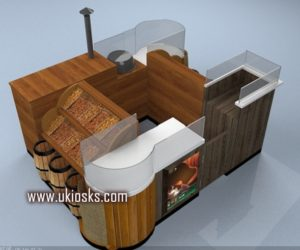 high end wooden customized nut kiosk in mall for sale