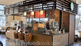 starbucks coffee kiosk design for shopping mall