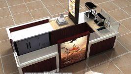 high end customized coffee kiosk shop design