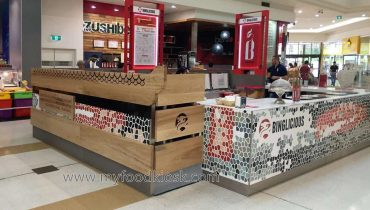 Binglicious customized mall fast food kiosk design for sale