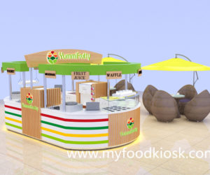 High end food kiosk design for frozen yogurt kiosk