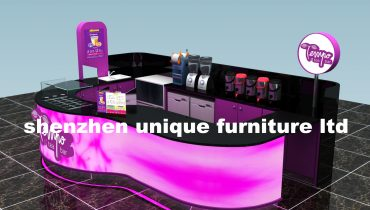 luxurious high end bubble tea kiosk design in mall for sale