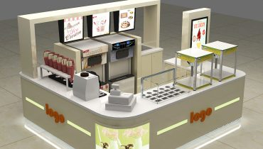 Most popular frozen yogurt kiosk design in mall for sale
