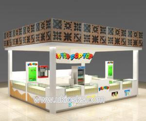 Beauty customized corn kiosk design in mall for sale