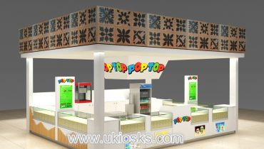 Beauty customized corn kiosk design in mall for sale