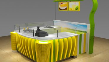 High end MINI sweet corn kiosk design for sale