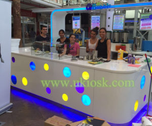Most popular beauty mall bubble tea kiosk for sale