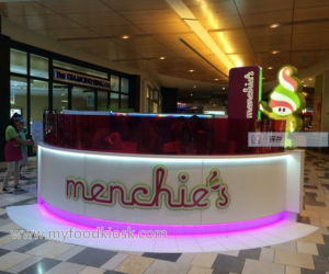 Menchies frozen yogurt kiosk in mall for sale