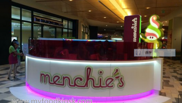 Menchies frozen yogurt kiosk in mall for sale