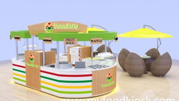 multifunctional food frozen yogurt kiosk in mall for sale