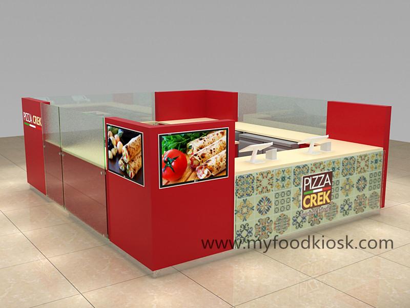 2018 hot selling fast food kiosk design for shopping mall