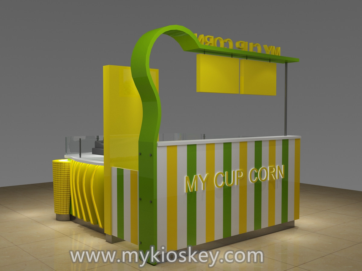 100  most popular sweet corn kiosk design in mall for sale