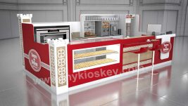 high end customized food kiosk egg tart display showcase