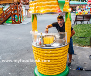 Most popular outdoor food mobile sweet corn kiosk design for sale