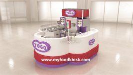 Attractive high end customized ice cream kiosk design