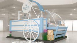 Fascinating mall ice cream kiosk design for sale