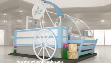 Fascinating mall ice cream kiosk design for sale