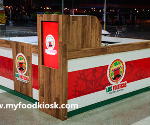 Attractive popsicle ice cream kiosk design in mall for sale