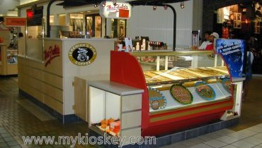 customized made cookies snack kiosk design for sale
