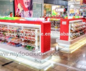 Attractive  sweet candy kiosk design in mall for sale