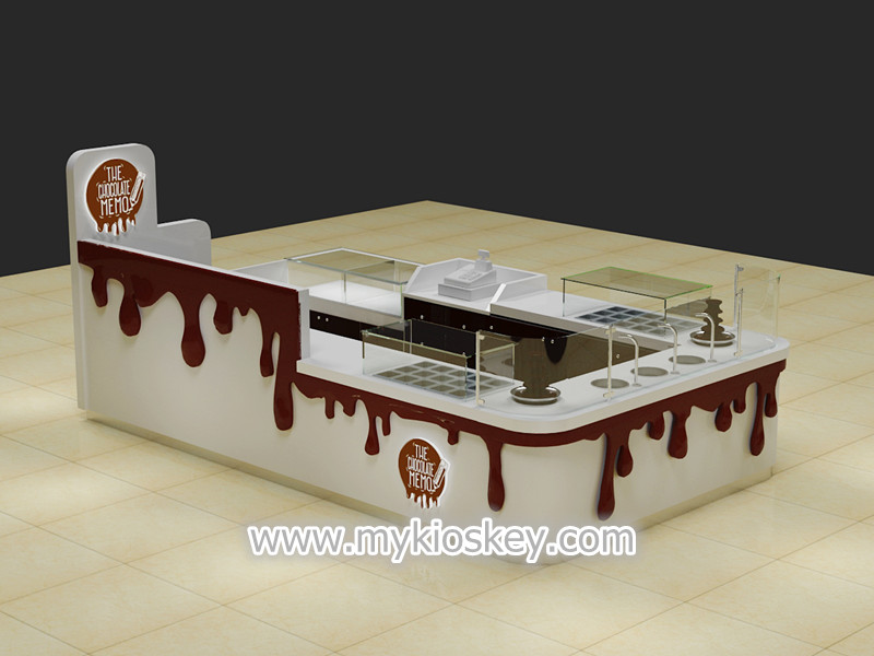 Exquisite wooden made mall food chocolate display kiosk for Australia