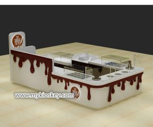 high end customized  chocolate display kiosk for shopping mall