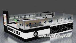 Modern customized  3d bubble tea kiosk design for mall