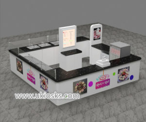 Popular mall food fried ice cream kiosk design for sale