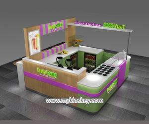Popular mall food juice bar kiosk design for sale