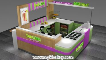 Popular mall food juice bar kiosk design for sale