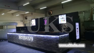 Attractive 20X10ft KOKEE TEA brand bubble tea kiosk export USA