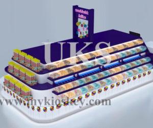 4×2.5m worldkide lollies purple candy kiosk for Australia