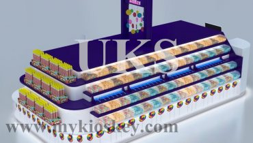 4×2.5m worldkide lollies purple candy kiosk for Australia