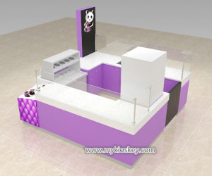 Hot sale sweety ice cream kiosk for shopping mall