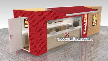High quality customized  mobile food pizza kiosk design for shopping mall