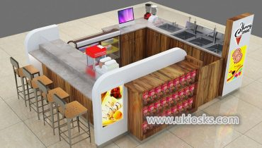 High quality mall food ice cream kiosk design for sale