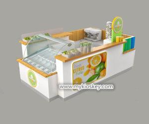 high quality customized juice bar kiosk for shopping mall