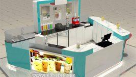 high end customized  frozen yogurt kiosk with HD 3d design