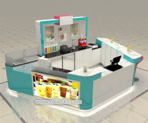 high end customized  frozen yogurt kiosk with HD 3d design