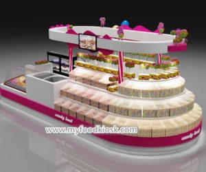 Sweet candy kiosk display counter for USA