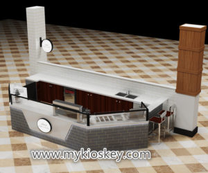 High quality retail mall crepe kiosk design for sale