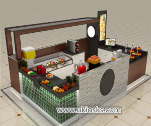 Attractive fresh juice bar kiosk for shopping center