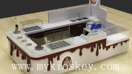 100% handmade mall food chocolate display kiosk for sale